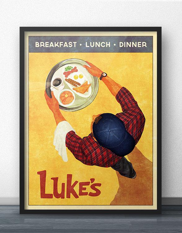 Luke's Diner Poster on Etsy